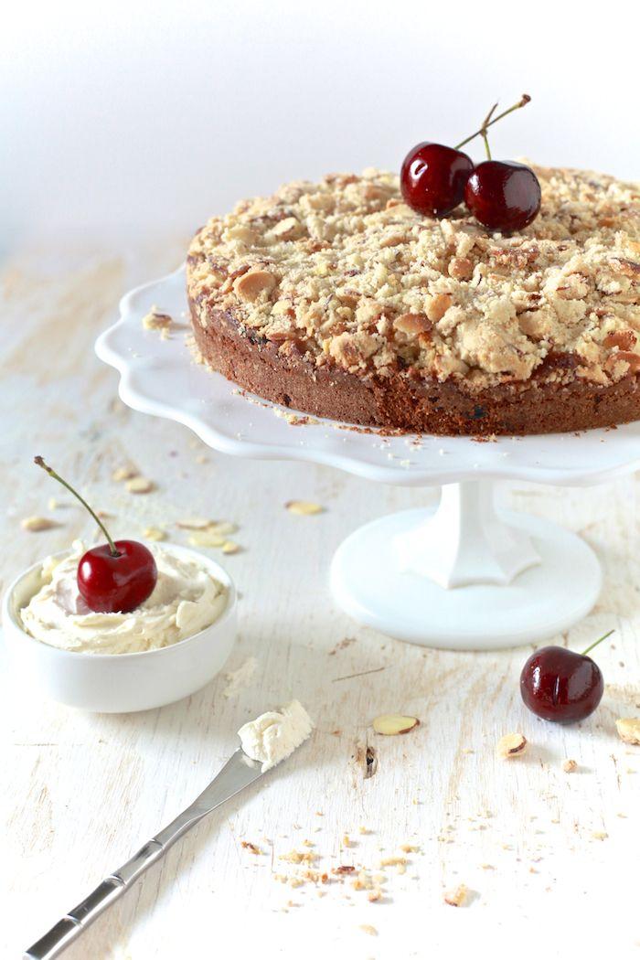 The Noshery | Cherry Almond Buttermilk Coffee Cake | http://thenoshery ...