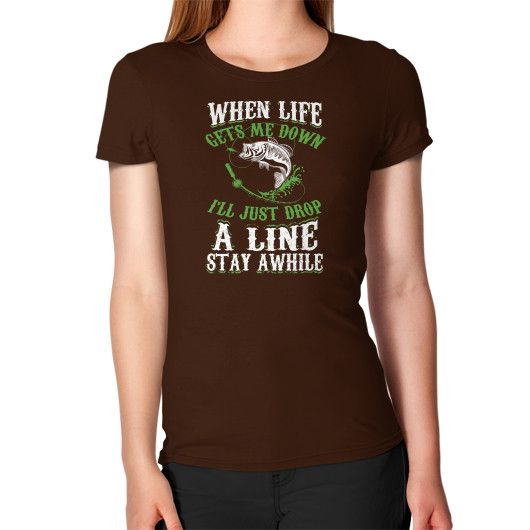 Drop a line stay awhile Women's T-Shirt