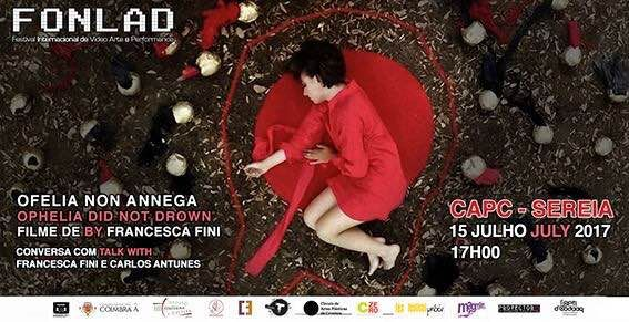 "Tomorrow in Coimbra, special screening of my movie ""Ophelia did not drown"" for Fonlad Festival."