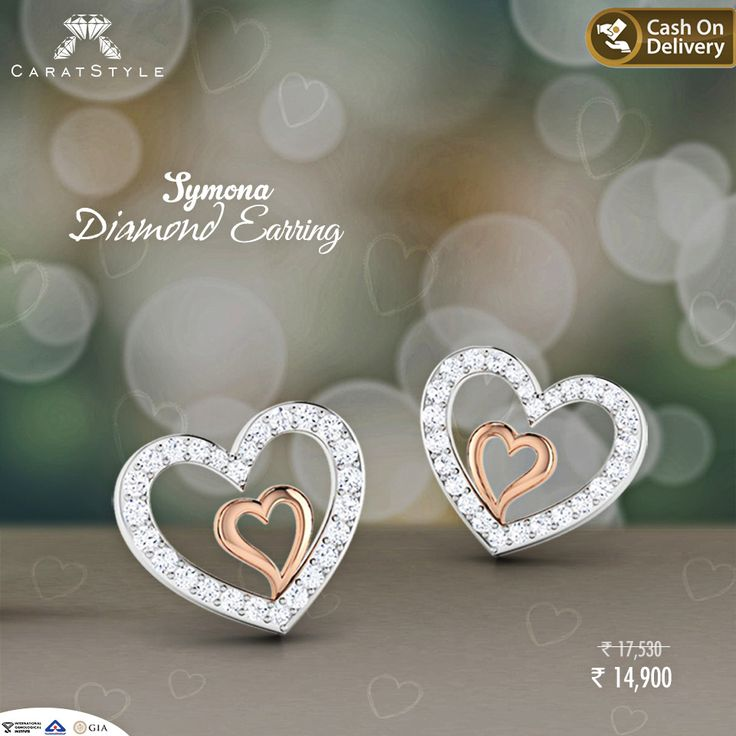 Feel the Beauty with Symona Diamond ‪#‎Earring‬ #diamondearrings ♥ ‪ #earring…