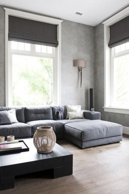Pretty Sofa Chaise method Amsterdam Scandinavian Living Room Image Ideas  with black coffee table dark gray roman shades gray sectional sofa gray  sofa with  Best 10  Modern roman shades ideas on Pinterest   Modern blinds  . Modern Blinds For Living Room. Home Design Ideas