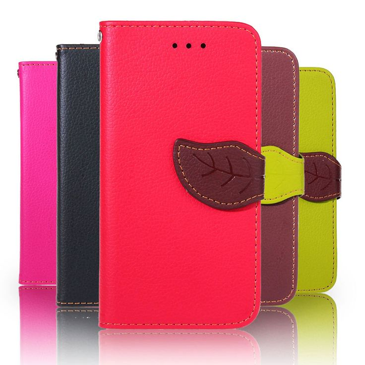 5C Luxury Leaf Style PU Leather Case for iPhone 5C Coque Fundas Cover With Stand Wallet Flip Holster Phone Case +Lanyard