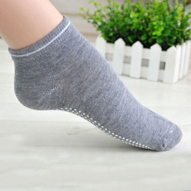Women Sport Sock Low Cut Anti-slip Solid Color Yoga Short Ankle Socks