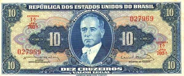 10 Крузейро (1970) Бразилия (Brazil) Южная Америка