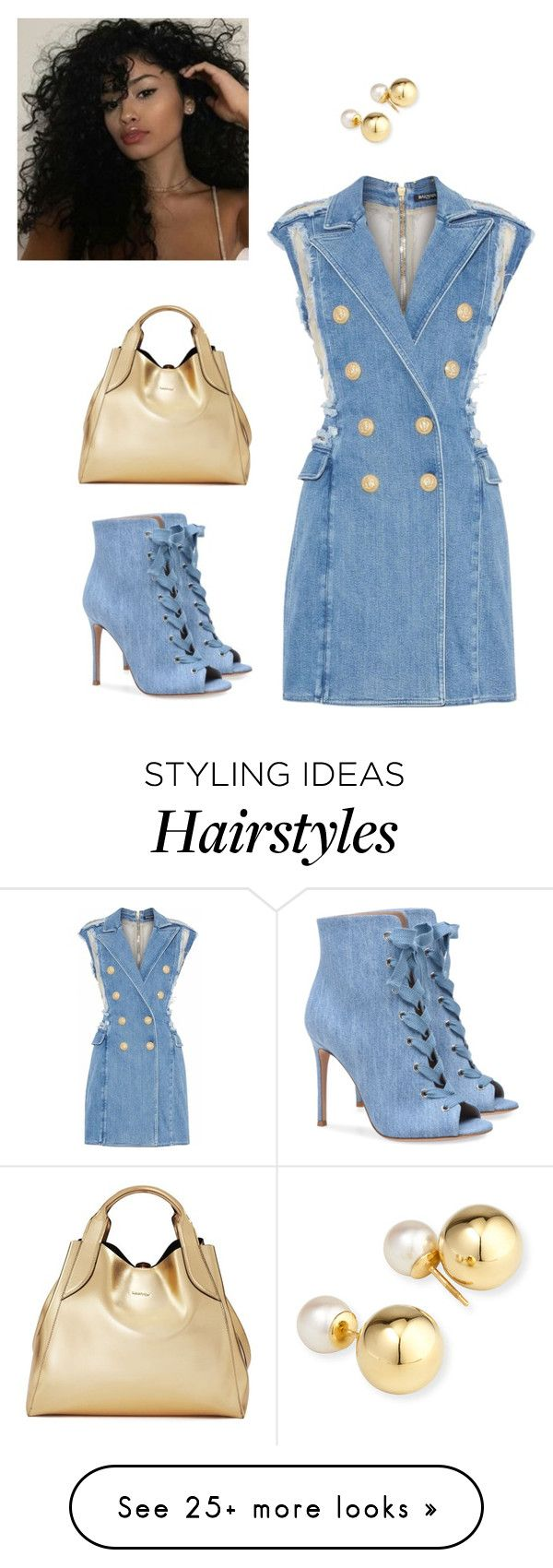 """""""Untitled #145"""" by desireervin on Polyvore featuring Balmain, Yoko London and Lanvin"""