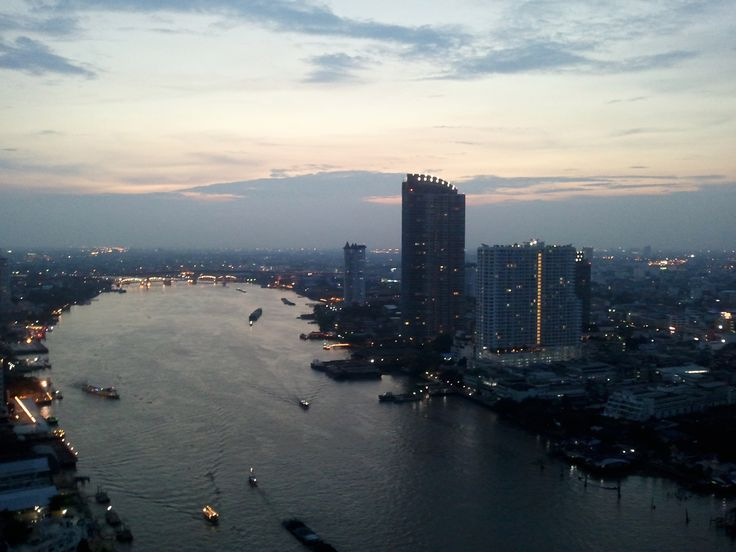 Bangkok riverside. Photo from the balcony of Chatrium Hotel