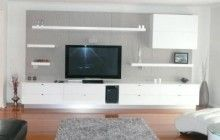Awesome White Grey Dark Brown Wood Cool Design Furniture Tv Wall Units Livingroom White Wall Paint Under Storage Wood Floor White Sofa At Livingroom With Modern Tv Stands And Furniture