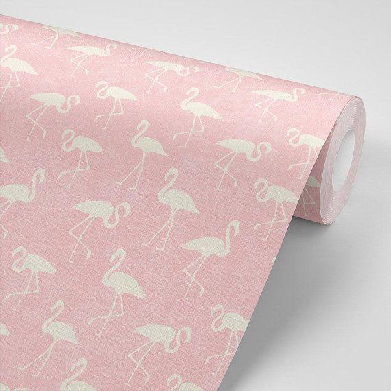 Peel And Stick Textured Flamingo Wallpaper No Need To Apply Adhesive To This Self Adhesive Vi Flamingo Wallpaper Pink Flamingo Wallpaper Wallpaper Iphone Boho