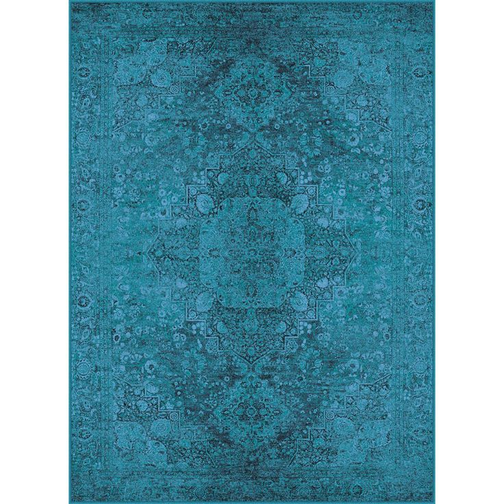 Expressions Teal Area Rug | Wayfair.ca