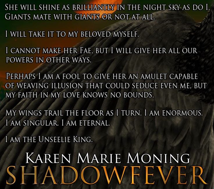 Unseeling King ― Karen Marie Moning, Shadowfever