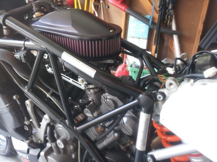 Adding the MotoHooligan air filter intake system, to the