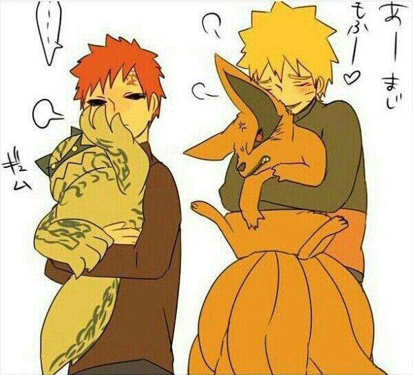 Gaara, Shukaku, Ichibi, Naruto, Kurama, Kyuubi, One Tail, Nine Tails, Jinchuuriki, Bijuu, cute ...