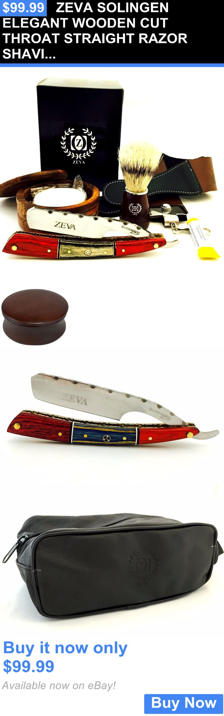 Straight Razors: Zeva Solingen Elegant Wooden Cut Throat Straight Razor Shaving Set, Dovo Paste BUY IT NOW ONLY: $99.99