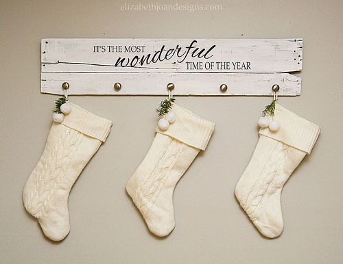 Christmas Song Stocking Hanger