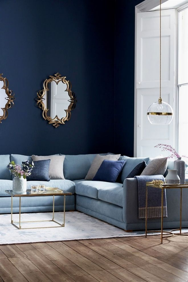 Classic Is Classic But It S A Well Known Fact That Simplicity Is The New Luxury When You Think Of T Blue Sofas Living Room Blue Sofa Living Blue Couch Living