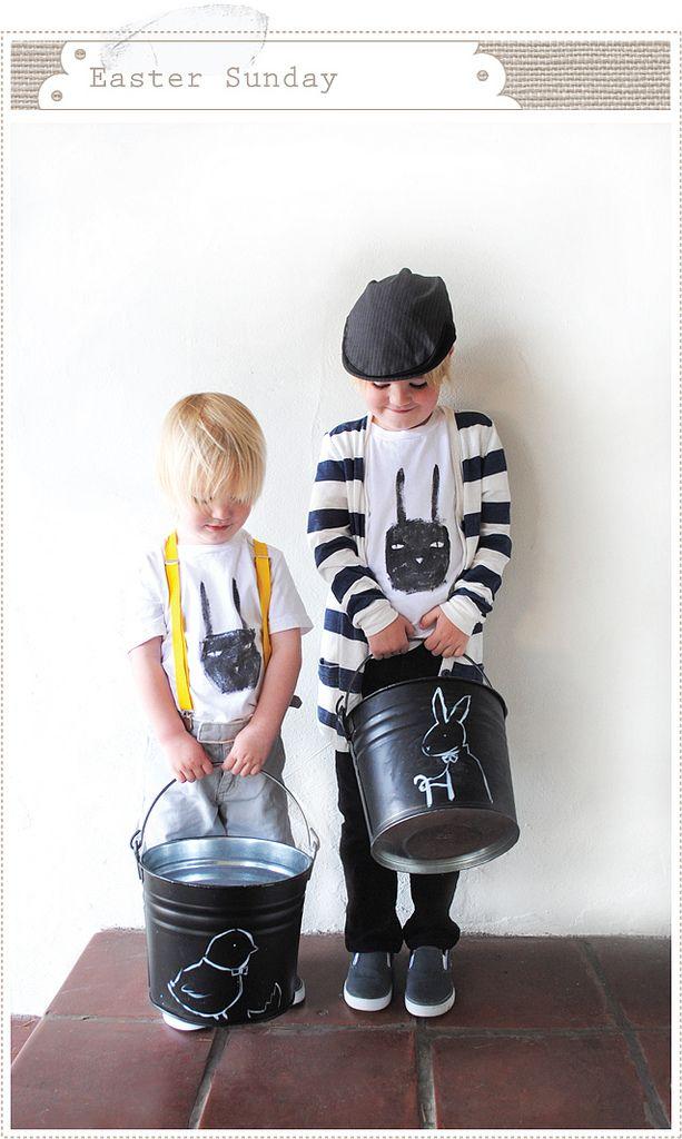 #Easter chalkboard basket/bucket...cute idea.