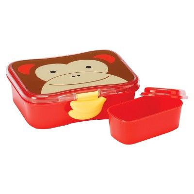 Skip Hop Zoo Little Kids & Toddler Lunch Kit With Storage Container - Monkey,