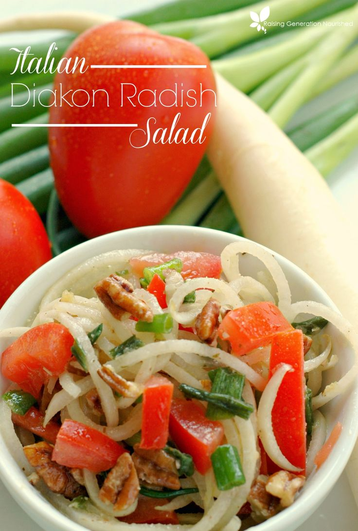 Italian Diakon Radish Salad