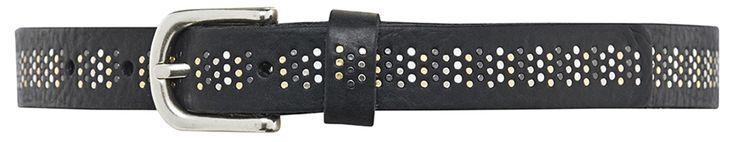 10816 narrow belt, 2,5 cm, black.
