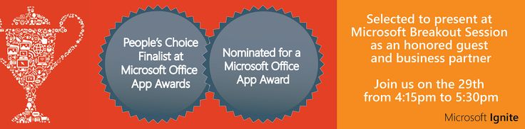 LMS365® is again nominated for the Annual Office App Awards and has been selected as a finalist for the People's Choice Award. The company will be presenting at Microsoft Ignite.  ELEARNINGFORCE International has been selected to showcase its Office 365 and SharePoint-based Learning Management System (LMS365®) at MS Ignite, Microsoft's biggest technology event of the year. The Danish software provider will present at Microsoft's session on September 29th from 4.15 pm to 5.30 pm.