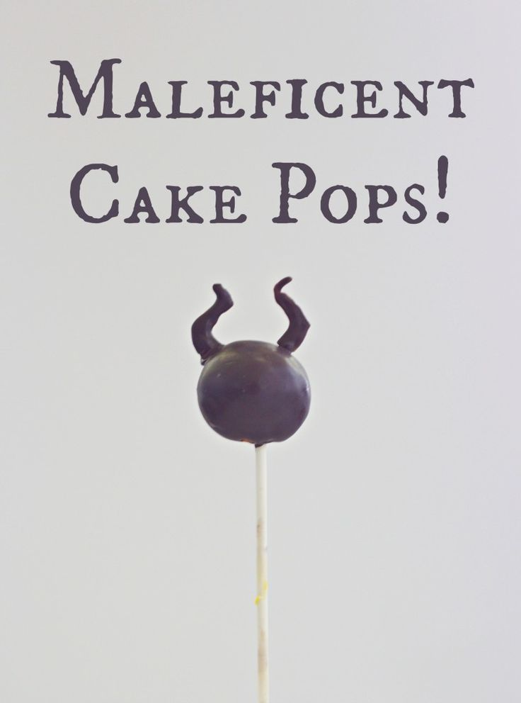 Maleficent Cake Pops are a fun way to celebrate the new Disney Movie #Maleficent! Easy to make, even if you are not crafty!