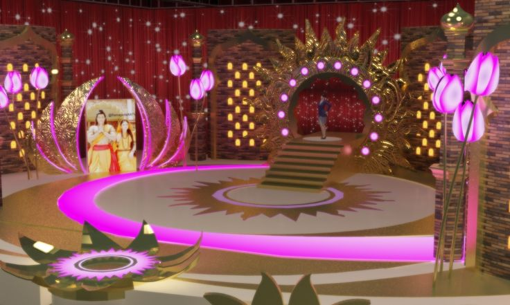 India stage show - concept rendering
