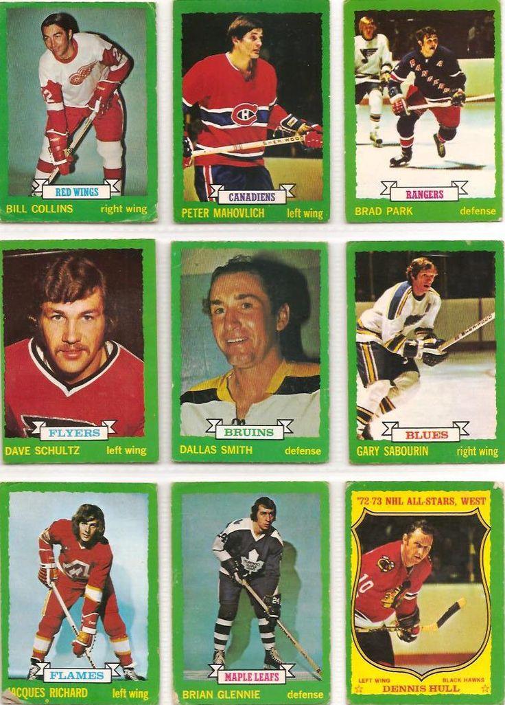 163-171 Bill Collins, Peter Mahovlich, Brad Park, Dave Schultz (R), Dallas Smith, Gary Sabourin, Jacques Richard, Brian Glennie, Dennis Hull