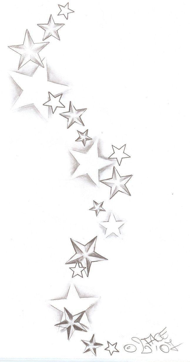 Tatouage Etoile Avec Decorations Tattoo Sterne
