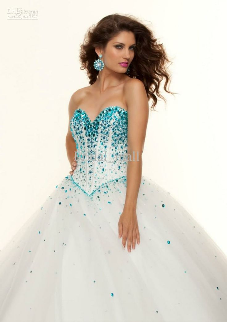 Big Puffy Prom Dresses   Puffy Ball Gown Sweep Train Quinceanera Prom Dresses JA117, $136.36