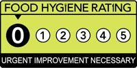 Food hygiene rating is '0': Urgent improvement necessary