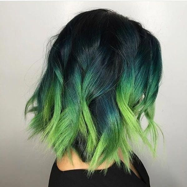 85 Fabulous Green Hair Style For You Sayfa 3 22 In 2020