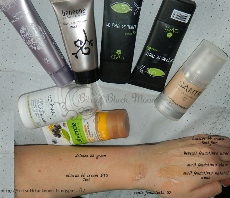 Swatches Fondotinta e BB cream bio - Benecos, Avril Cosmetique, Sante Naturkosmetik, Alverde