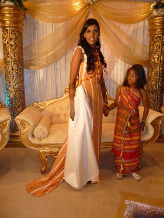 Somali bride in tradition inspired wedding dress, Djibouti