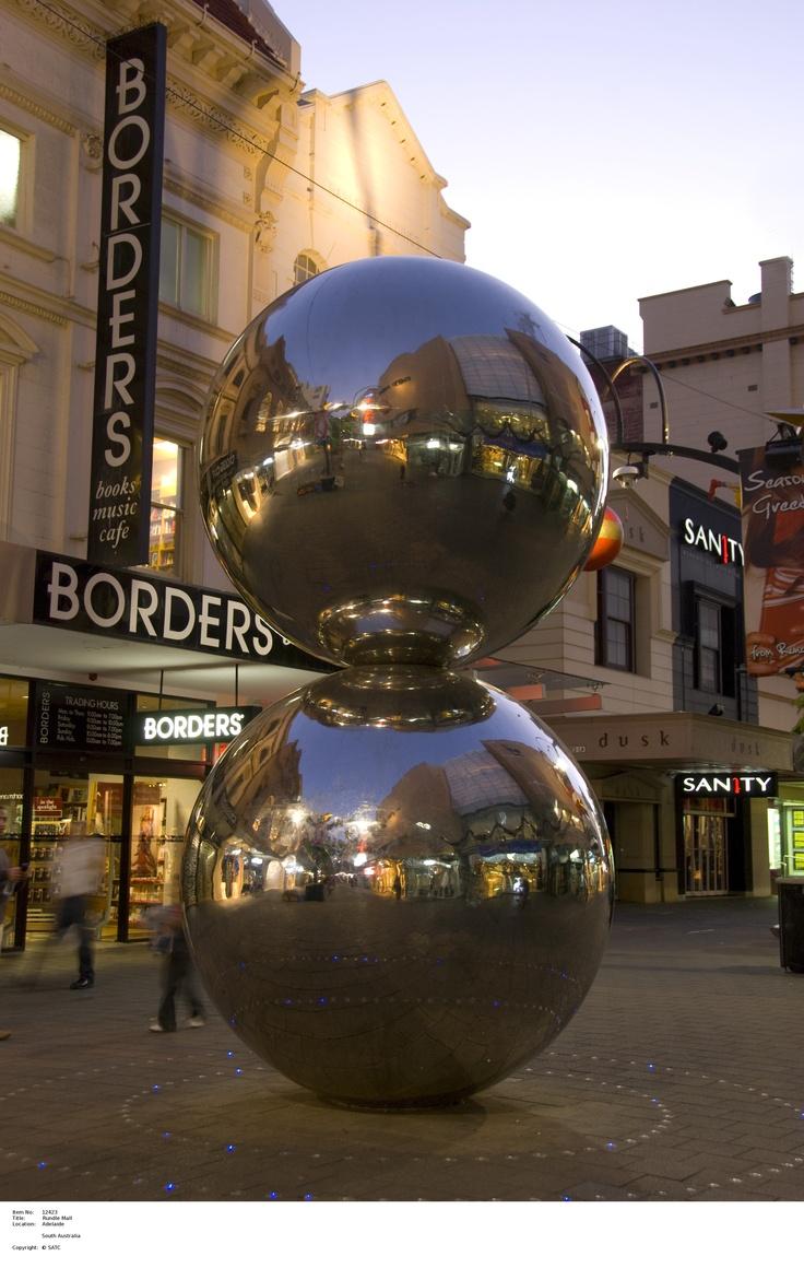 Adelaide's famous malls balls.    Image Source: SA Tourism Commission.