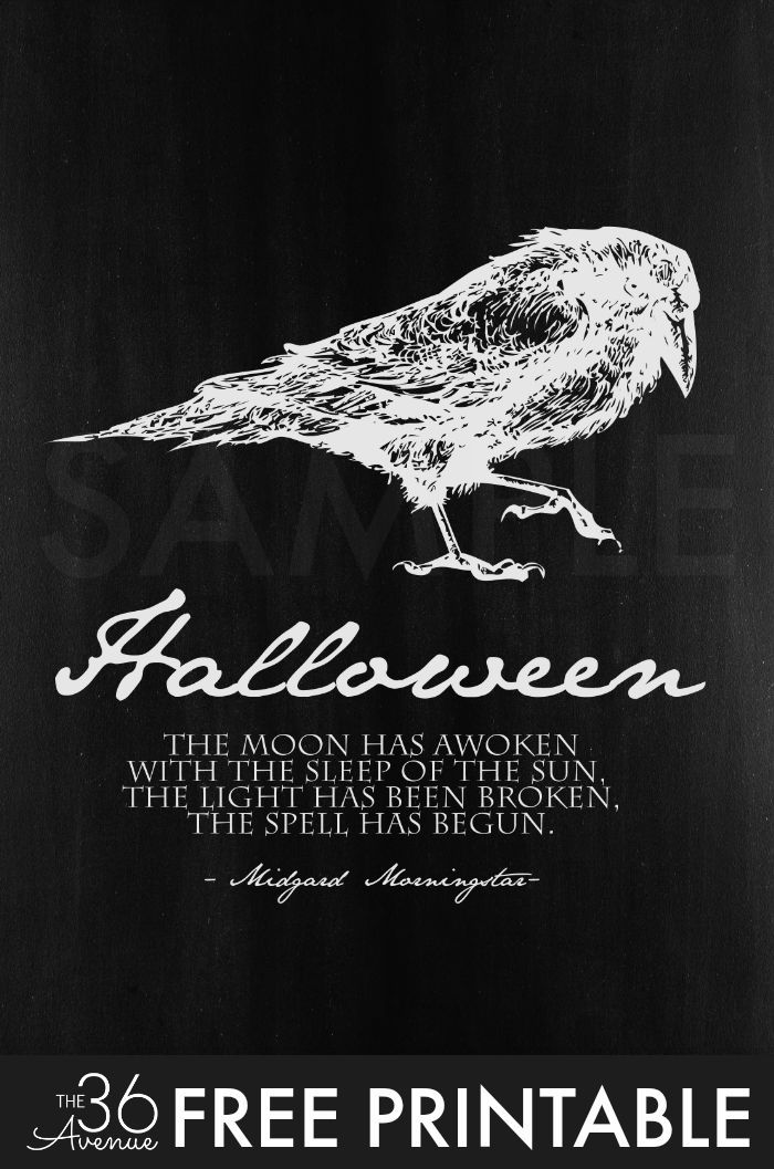 halloween halloween free printable set by the36thavenuecom halloween quotes - Halloween Pics Free