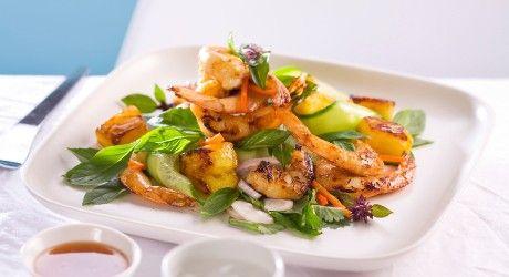 BBQ Prawn & Pineapple Salad