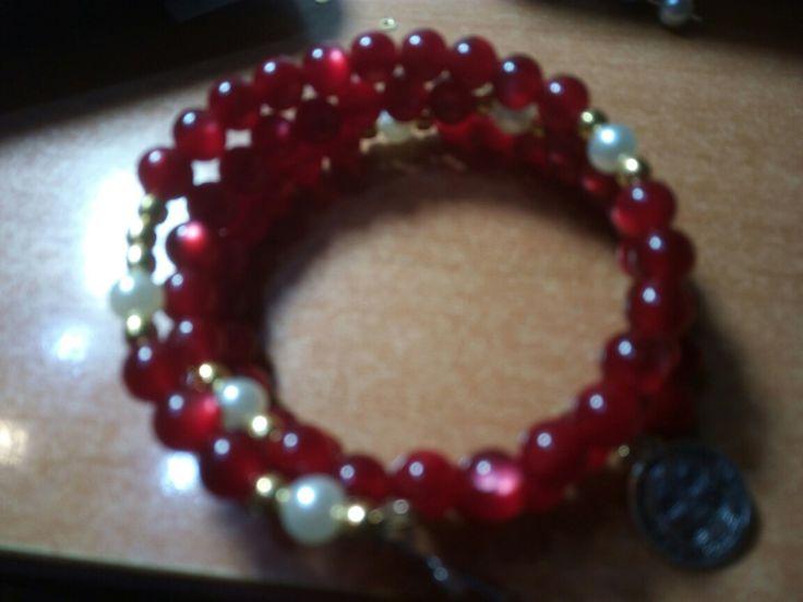 Corona s rosario a braccialetto fatta mano