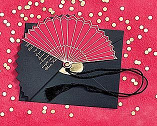 Japanese Fan Invitation Love Is Sweet Events
