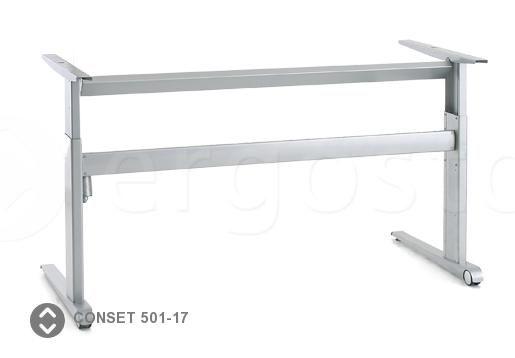 Опора Conset 501-17 на двух ножках со встроенными колесами для стола с регулируемой высотой