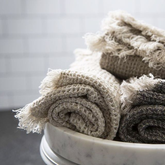 Our all new waffle bath towels are about to land. Dense, lush pure linen waffle for the face, hands, and body. Super soft and highly absorbent.