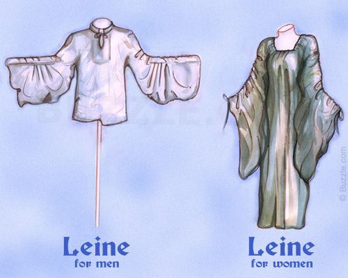 Irish Leine which was worn traditionally in Ireland