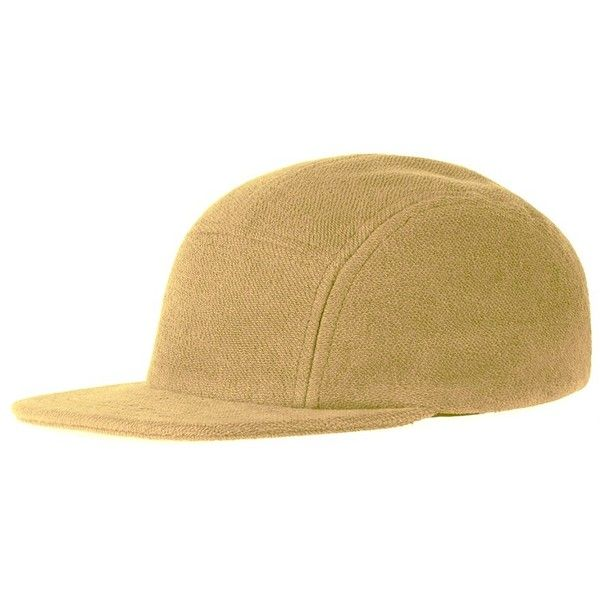 Les basics peak cap camel ($53) ❤ liked on Polyvore featuring men's fashion, men's accessories, men's hats, mens caps and hats and mens summer hats