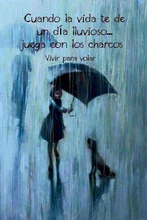 Cuando la vida te da un día lluvioso...juega con los charcos.