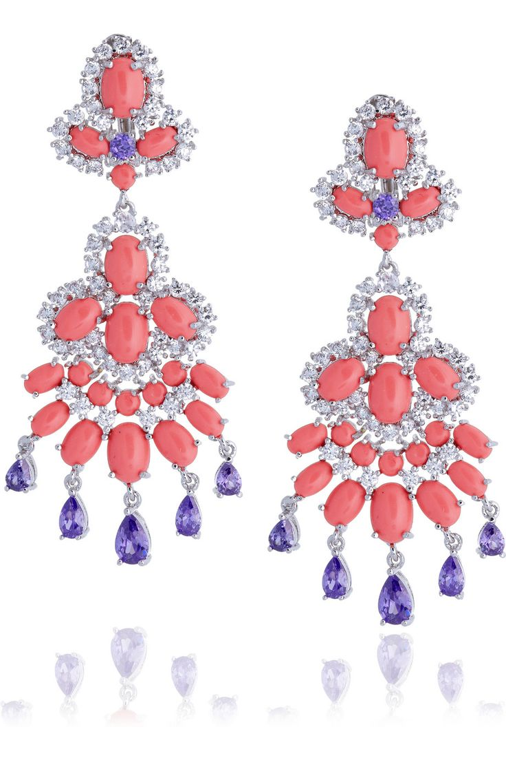83 best kenneth jay lane images on pinterest kenneth jay lane kenneth jay lane rhodium plated cubic zirconia and cabochon clip earrings net arubaitofo Images