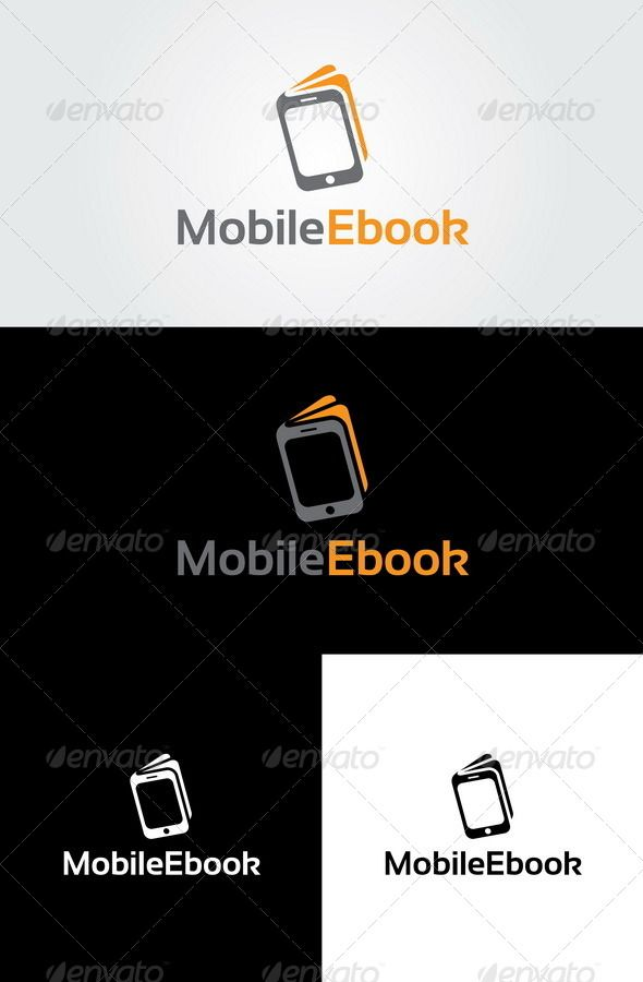 Mobile Ebook Logo Template