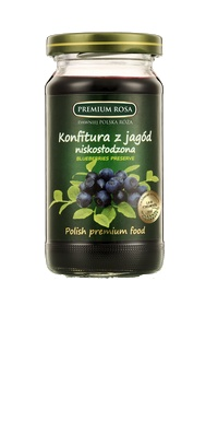 Konfitura z jagód. Blueberry jam. Owoce czarnych jagód zbierane są w polskich lasach na ekologicznie czystych terenach. Drobne owoce są wyselekcjonowane i odpowiednio przygotowane.  Jagody dzięki subtelnemu smakowi i walorom zdrowotnym powinny być stałym elementem diety.  Konfitura świetnie smakuje jako dodatek do pieczywa i wypieków. Można ją jeść jako deser. Cena: 8,00 zł #Blueberry #Jam #Konfitura