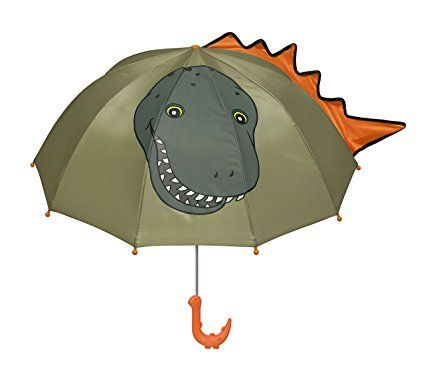This dinosaur umbrella is a lightweight, child-safe nylon umbrella which is the perfect size for smaller hands.