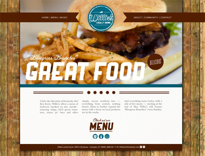web-design website site food brown restaurant burger fries