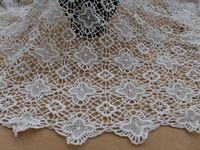 Кремовый ткани старинные крючком хлопка ткани для свадебное платье, Кружева обложка, Костюмы
