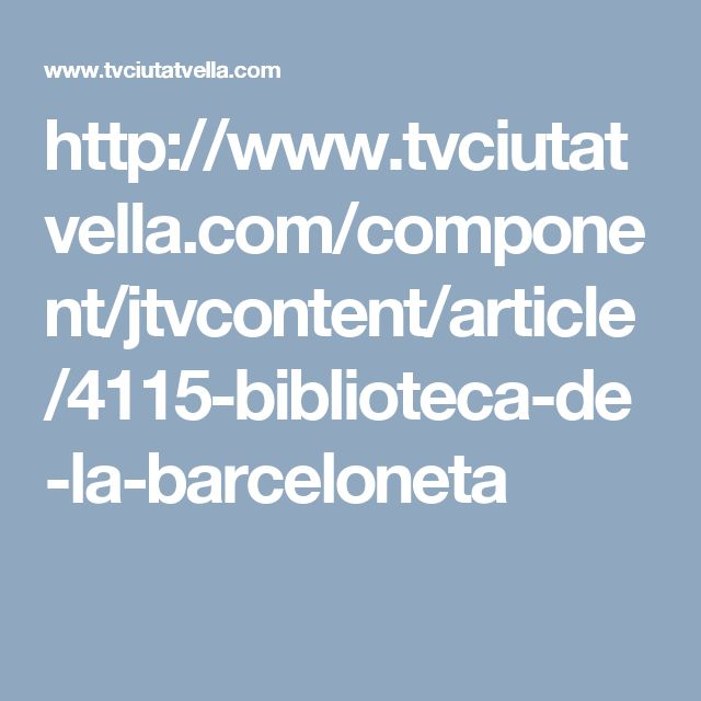 Obertura Biblioteca Barceloneta-La Fraternitat (2001)